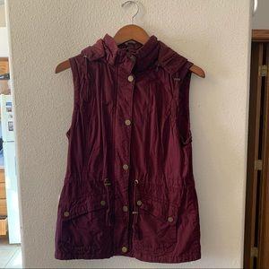 YMI Maroon Hooded Vest